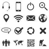 Web e iconos móviles fijados Imagen de archivo libre de regalías