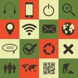 Web e iconos móviles fijados Fotografía de archivo