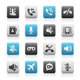 Web e iconos móviles 1 - Matte Series Imágenes de archivo libres de regalías