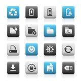Web e iconos móviles 3 - Matte Series Foto de archivo libre de regalías