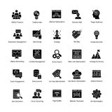 Web e Seo Glyph Vetora Icons Fotos de Stock Royalty Free