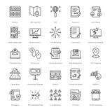 Web e SEO Line Vector Icons 4 Fotografie Stock