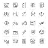 Web e SEO Line Vector Icons 14 Immagini Stock