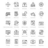 Web e SEO Line Vector Icons 21 Immagine Stock