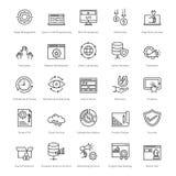 Web e SEO Line Vector Icons 13 Immagini Stock