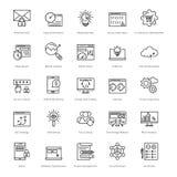 Web e SEO Line Vector Icons 39 Fotografia Stock Libera da Diritti
