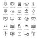 Web e SEO Line Vector Icons 25 Fotografie Stock