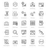 Web e SEO Line Vector Icons 5 Fotografia Stock