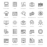 Web e SEO Line Vector Icons 27 Immagini Stock