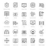 Web e SEO Line Vector Icons 54 Immagine Stock