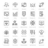 Web e SEO Line Vector Icons 56 Immagine Stock