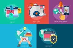 Web e sviluppo Immagini Stock