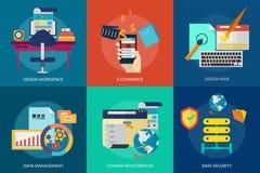 Web e sviluppo Immagine Stock