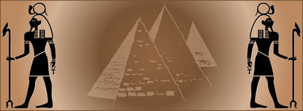 Web Egitto della bandiera royalty illustrazione gratis