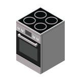 Web eléctrico del icono de la estufa Imagen de archivo libre de regalías