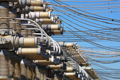 Web of electric wires Royalty Free Stock Image