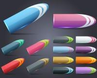 Web-Element-Bleistift-Art-vektortasten-Set Stockbild