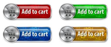 Web-Elemente des elektronischen Geschäftsverkehrs Stockbild