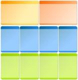 Web-Elemente für Schablonen Stockfotografie