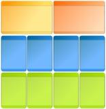 Web-Elemente für Schablonen Stockbilder