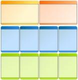 Web-Elemente für Schablonen Lizenzfreies Stockbild