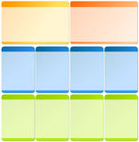 Web-Elemente für Schablonen Lizenzfreie Stockfotos