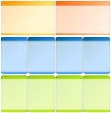 Web-Elemente für Schablonen Lizenzfreie Stockbilder