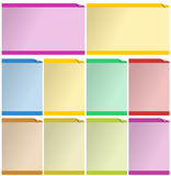 Web-Elemente für Schablonen Stockfotos