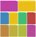 Web-Elemente für Schablonen Stockbild