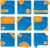 Web elements. Orange-blue web banner set (vector format enable Stock Photos