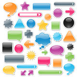 Web Elements. Collection of brightly colored, glossy web elements including: arrows, search bars, speech and thought bubbles. Perfect for adding your own text or Stock Image