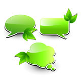 Web elements. Chat bubbles with leaves Stock Photography