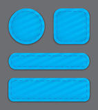 Web elements. Blue glossy web element set. Vector illustration stock illustration