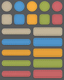 Web elements. Colorful web elements made of leather. Vector illustration royalty free illustration
