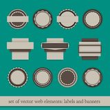 Web elements. Set of web elements, labels and banners,  illustration Royalty Free Illustration