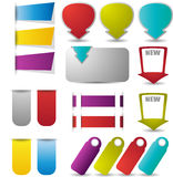 Web elements in bright colors Stock Photography