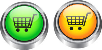 Web elements for ecommerce. Glossy web buttons for ecommerce. Vector illustration royalty free illustration