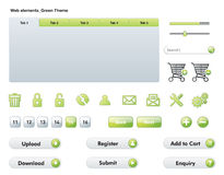 Web Elements - Green Theme Stock Photo