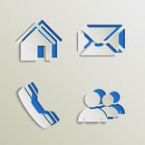 Web elements icons cut out template Stock Image