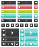 Web elements and icons flat design Royalty Free Stock Image
