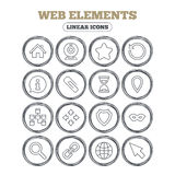 Web elements icons. Video and speech bubble. Stock Photography