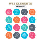 Web elements icons. Video and speech bubble. Royalty Free Stock Images