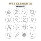 Web elements icons. Video and speech bubble. Stock Images