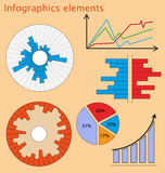 Web elements infografic. In flat style Royalty Free Stock Image