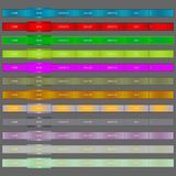 Web Elements Navigation Bar.vector illustration. Royalty Free Stock Photos