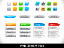 Web elements pack Royalty Free Stock Photos