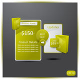 Web elements for Products. Sale information, vector EPS10 Stock Photography