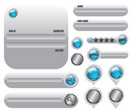 Web elements set icon Stock Image