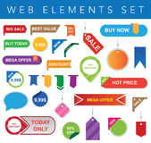 Web Elements Set Royalty Free Stock Photos