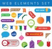 Web Elements Set Royalty Free Stock Photos